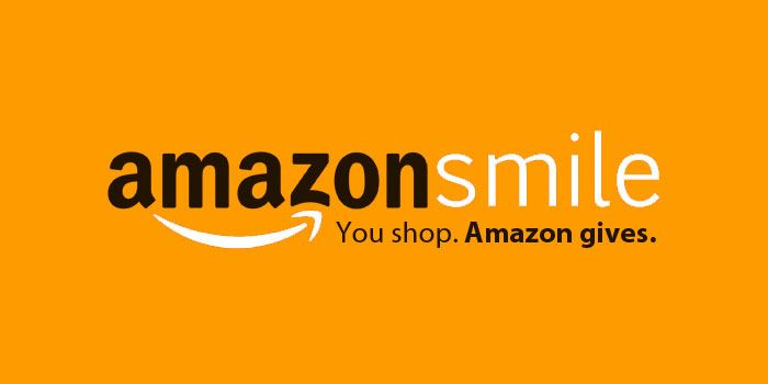 amazonsmile logo, bright orange