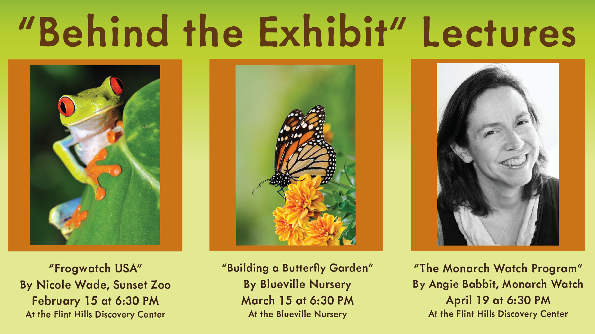 Behind the Exhibit Lectures Graphic
