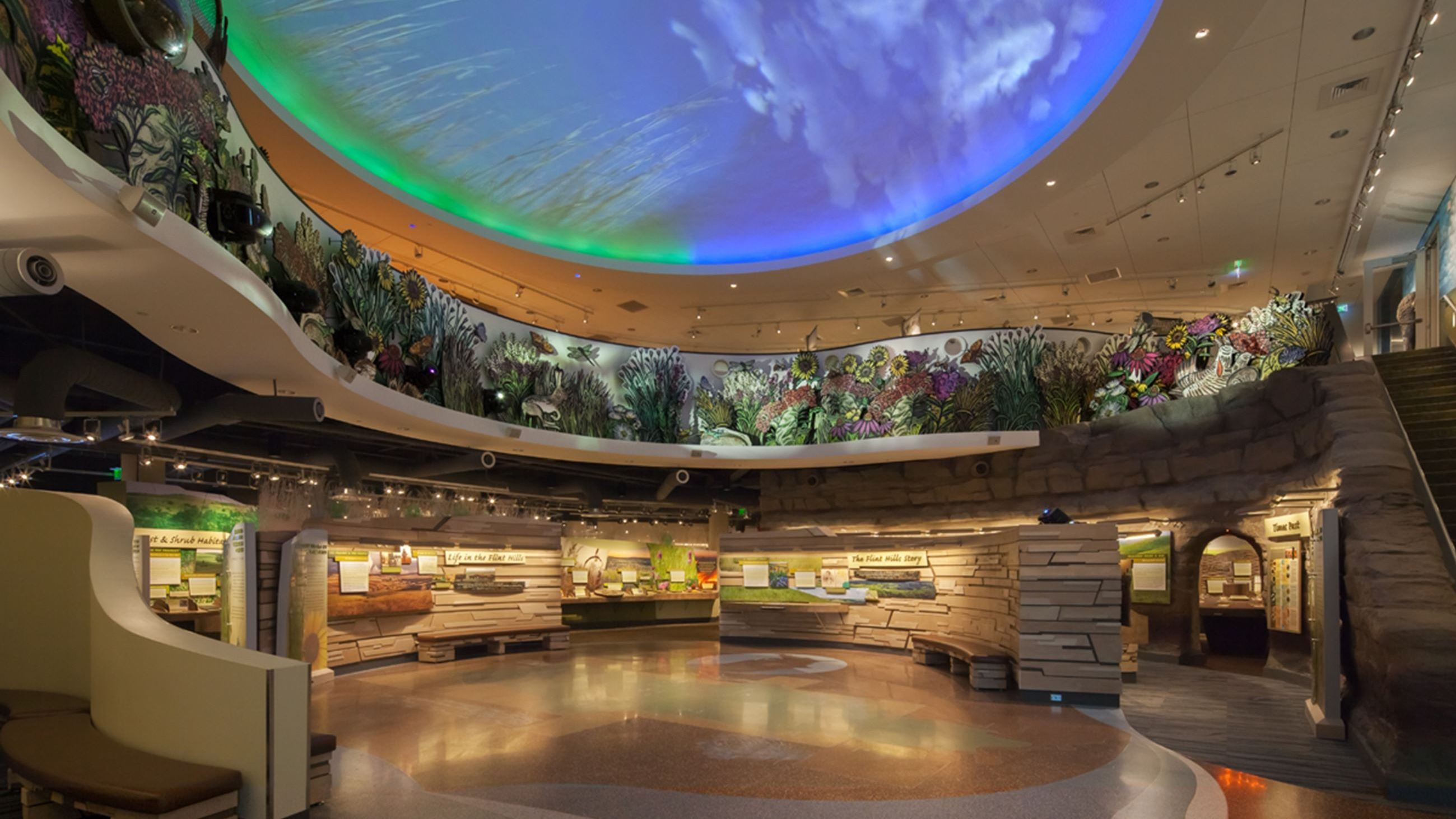 Interior of Flint Hills Discovery Center