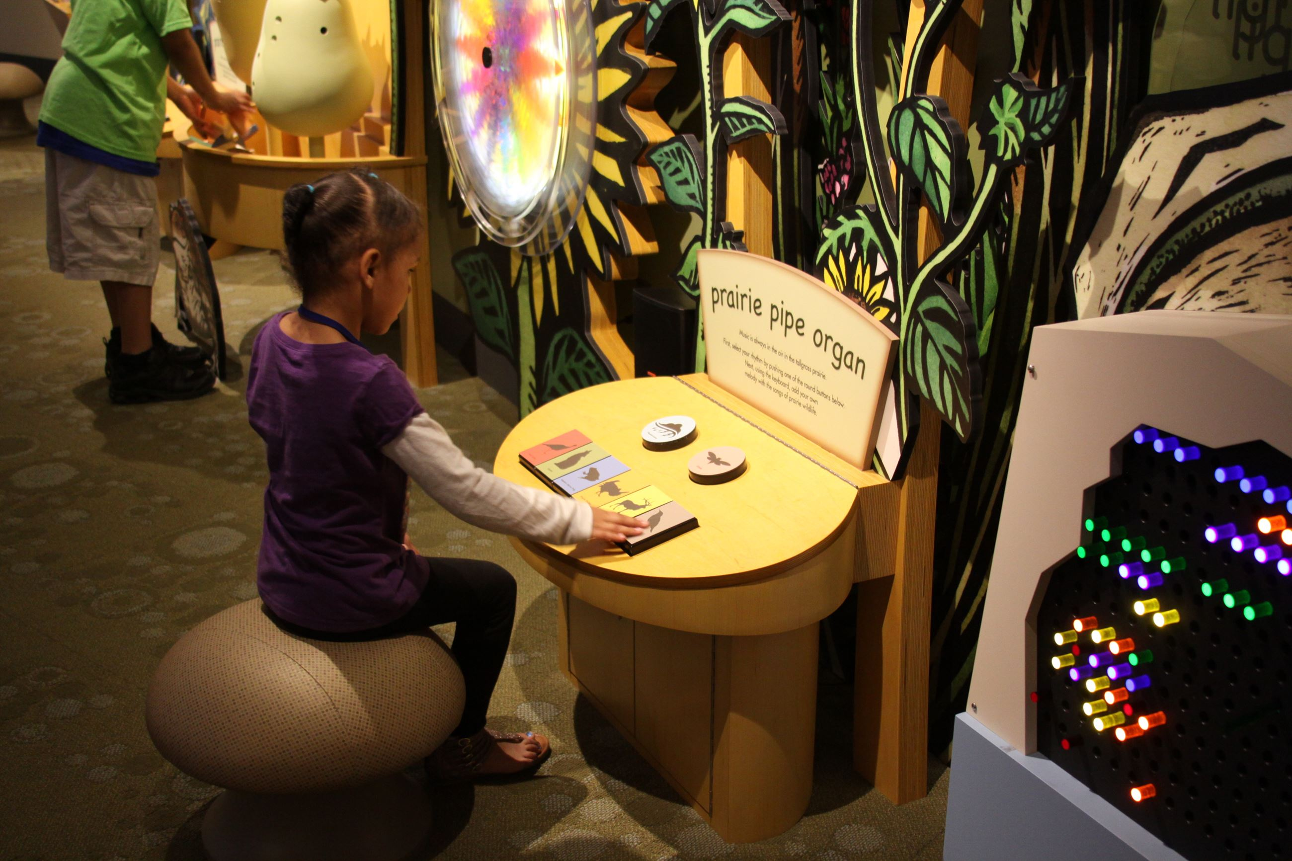 Kids Area inside the Flint Hills Discovery Center