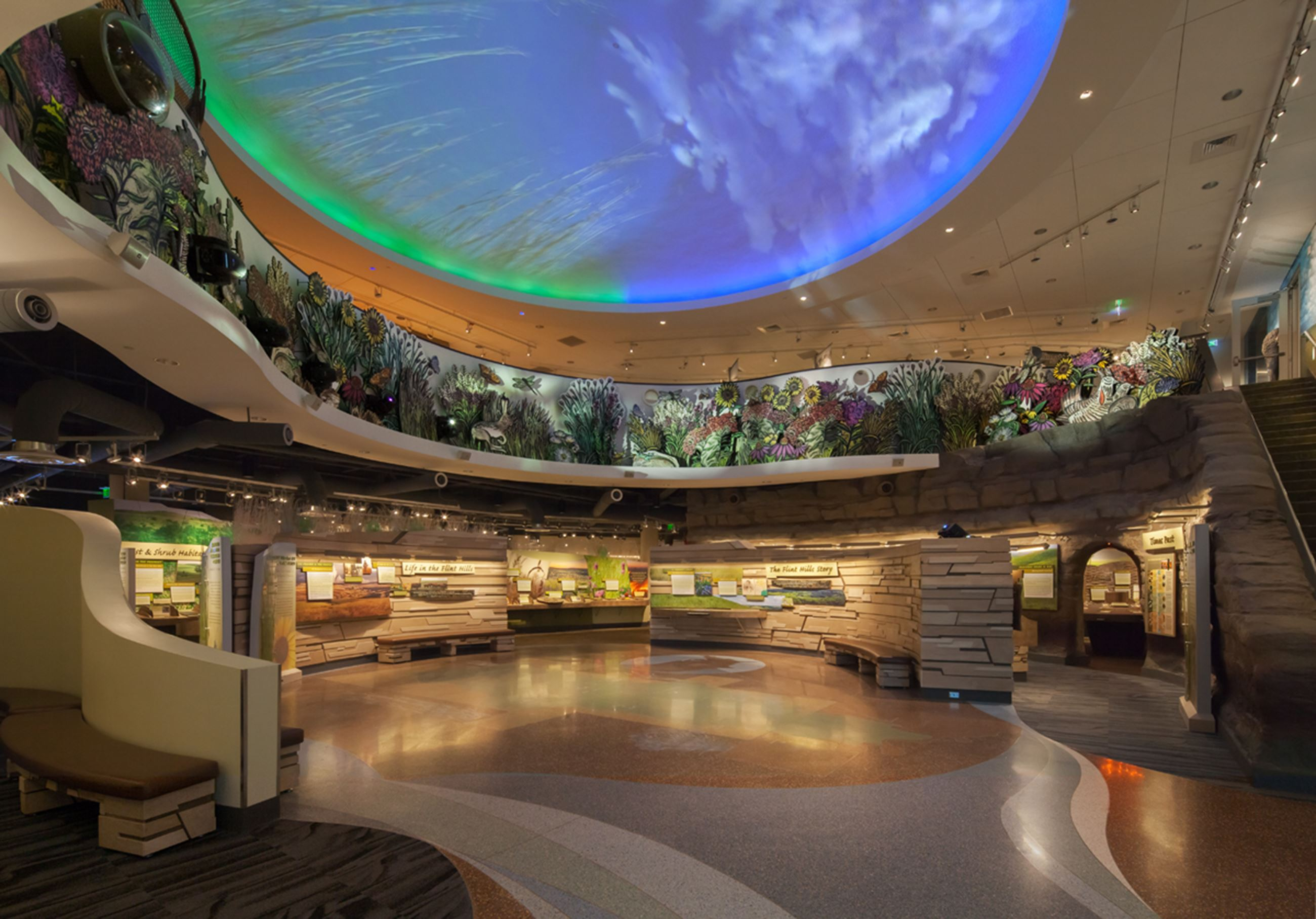 Permanent Exhibits inside the Flint Hills Discovery Center