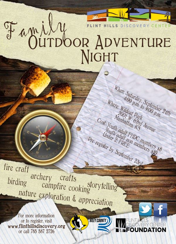 Family Outdoor Adventure Night Flyer