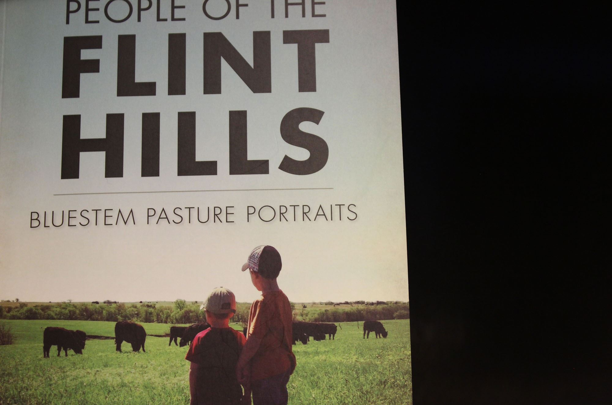 The cover of a book called People of the Flint Hills